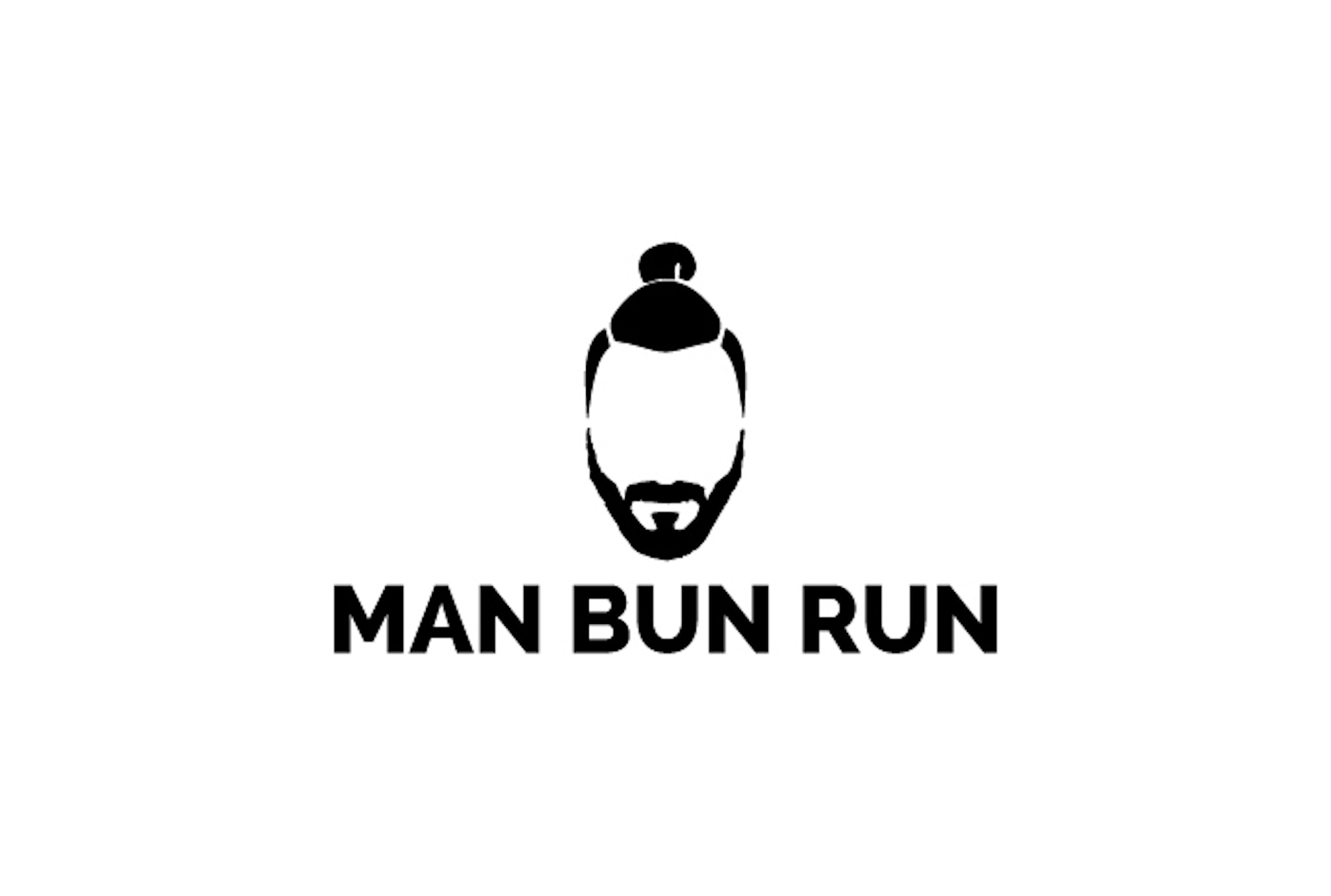 Man Bun Run show art