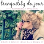 Artwork for Tranquility du Jour #343: I Know How She Does It