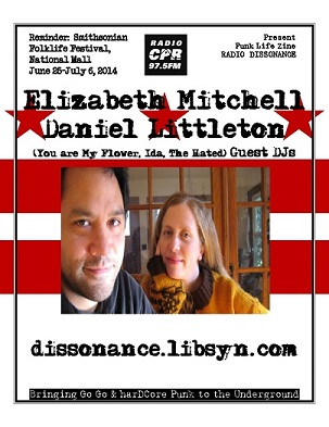 06.24.14 Elizabeth Mitchell and Daniel Littleton (Ida and the Hated) Guest Dj's with Punk Life Zine