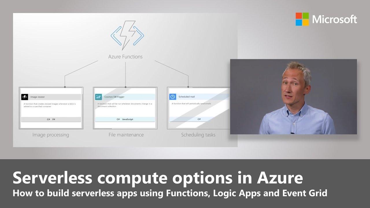 Artwork for Serverless compute options in Azure