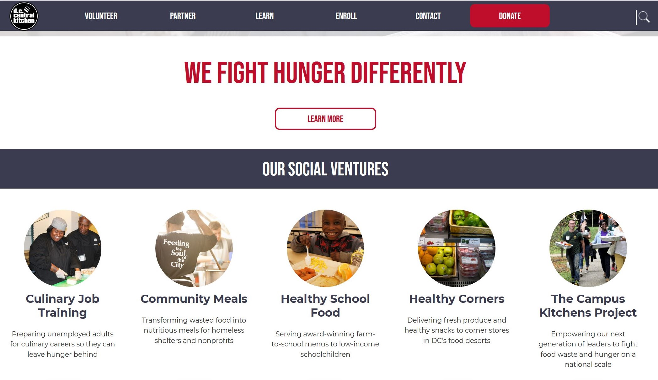 DC Central Kitchen website