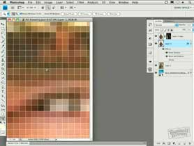 Zooming in Photoshop CS4