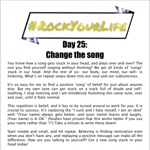 DAY 25 #RockYourLife!