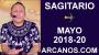 Artwork for SAGITARIO MAYO 2018-20-13 al 19 May 2018-Amor Solteros Parejas Dinero Trabajo-ARCANOS.COM