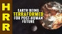 Artwork for Earth being TERRAFORMED for post-human future