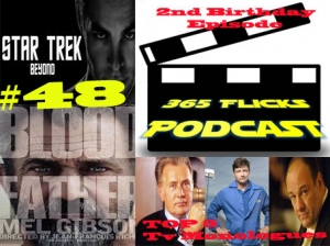 365 #48 2nd Birthday. News. Top5 TV Monologues. Star Trek Beyond, Blood Father Reviews. Listener Mail