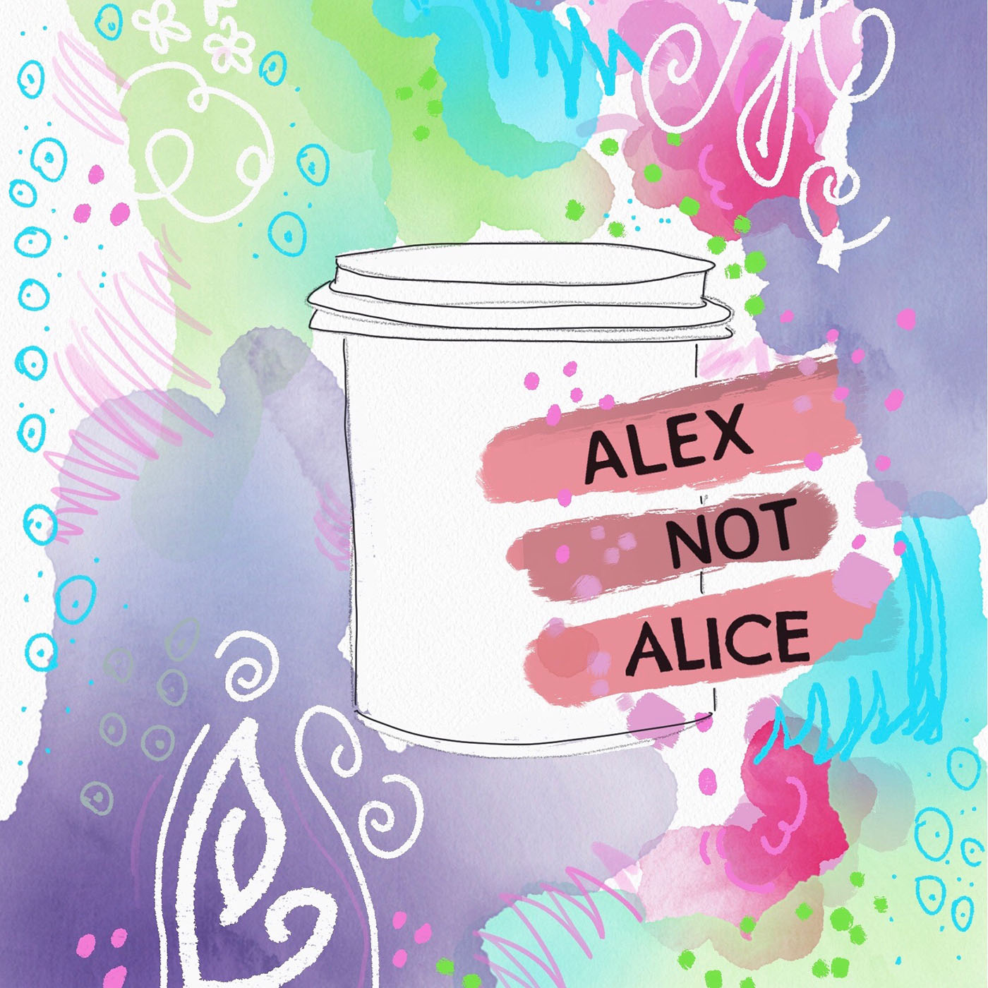Alex Not Alice the Podcast show art