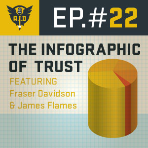 "Episode 22 feat. Fraser Davidson and James Flames ""The Infographic of Trust"""