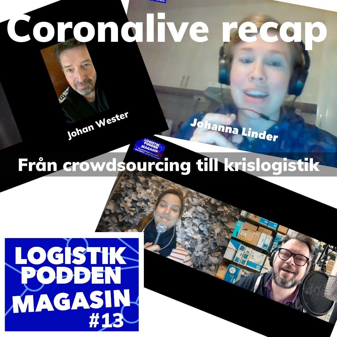 Logistikpodden Magasin #13 - Coronalive recap
