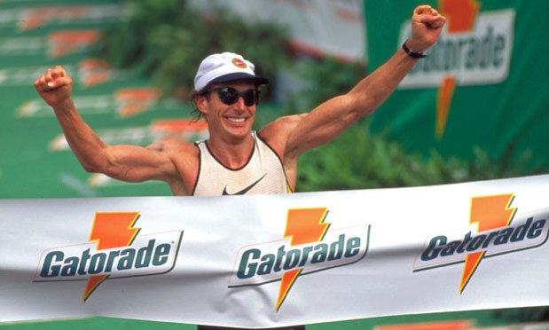 Mark Allen wins his 6th Ironman Triathlon World Championship in Kona, Hawaii in 1995. Source: markallencoaching.com