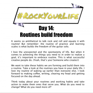 #RockYourLife Day 14!