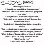 9479 (radio) #4: So she takes the banana...