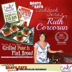 B&E Cookbook #7: Grilled Peach Flatbread Recipe | Restauranteur Ruth Corcoran | Yelp - Trip Advisor | Restaurant Consultation