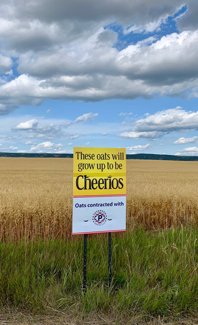 Cheerios sign
