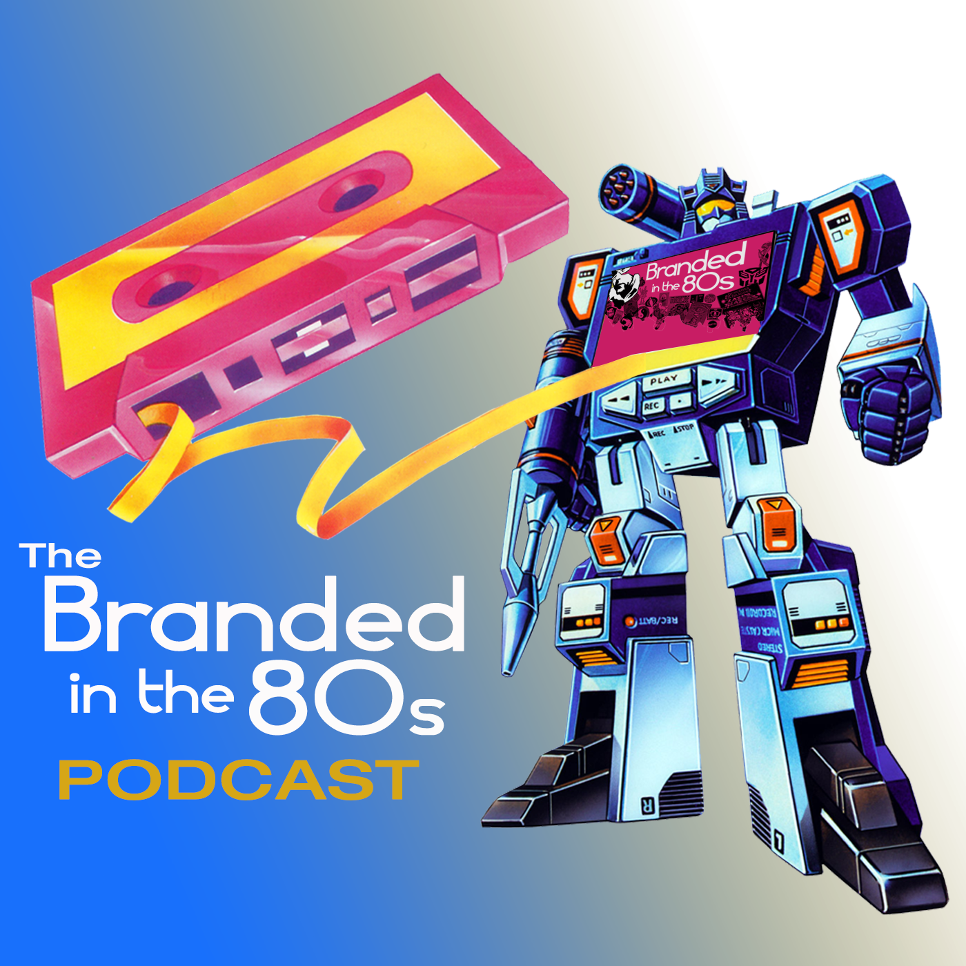Branded in the 80s Podcast show art