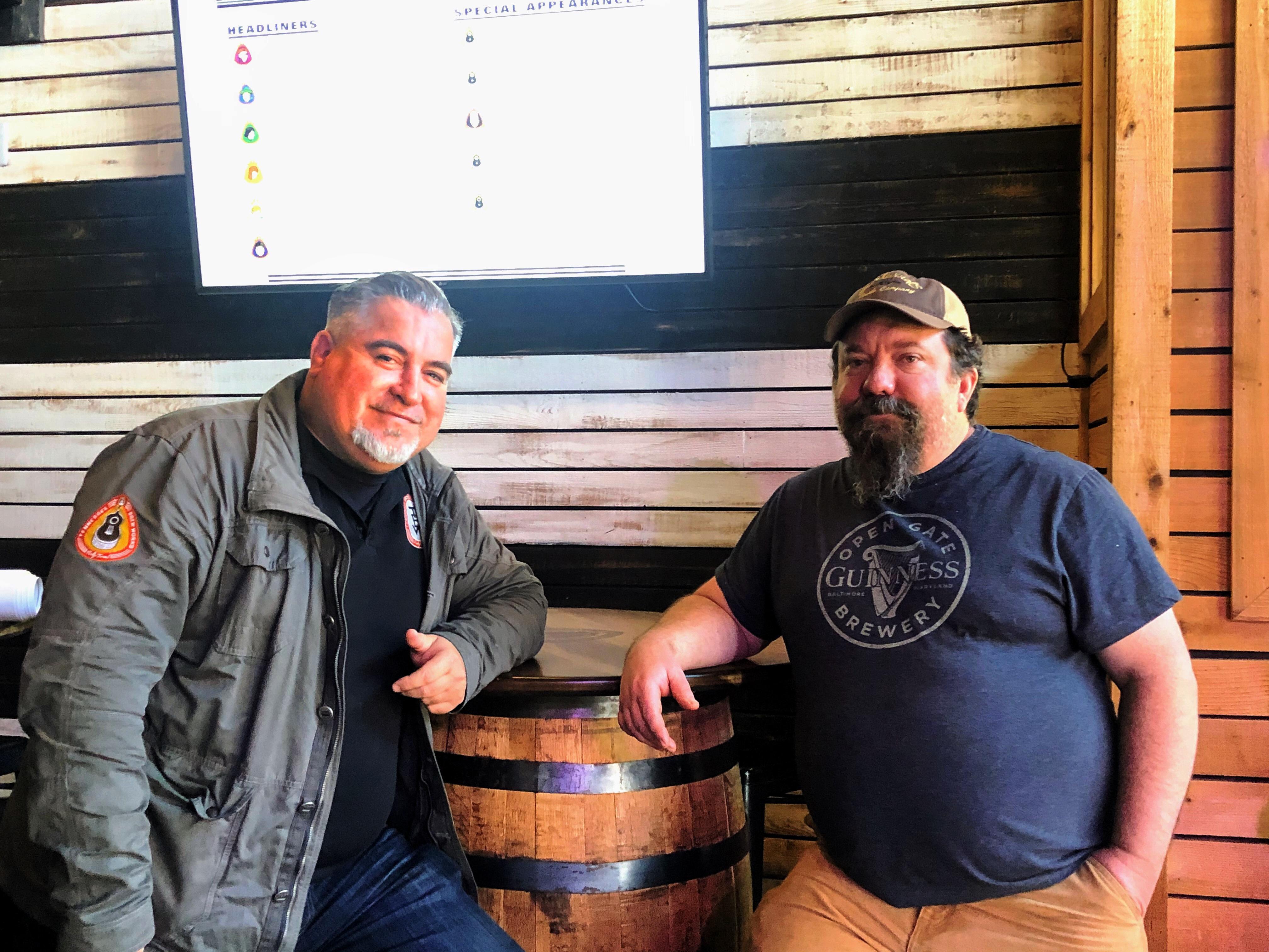 Tennessee Brew Works Christian Spears (left) & Matt Simpson (right)