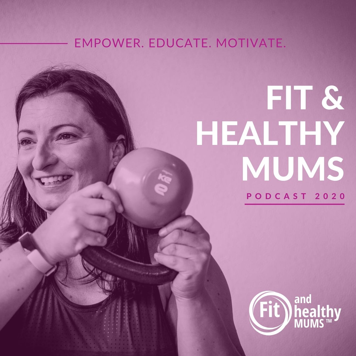 Fit and Healthy Mums's podcast show art