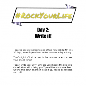 #RockYourLife Day 2!