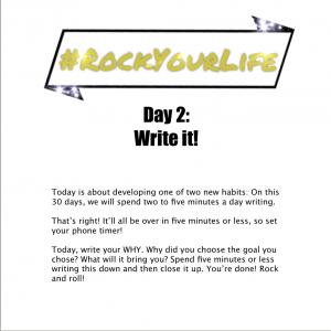 #RockYourLife Day 2!