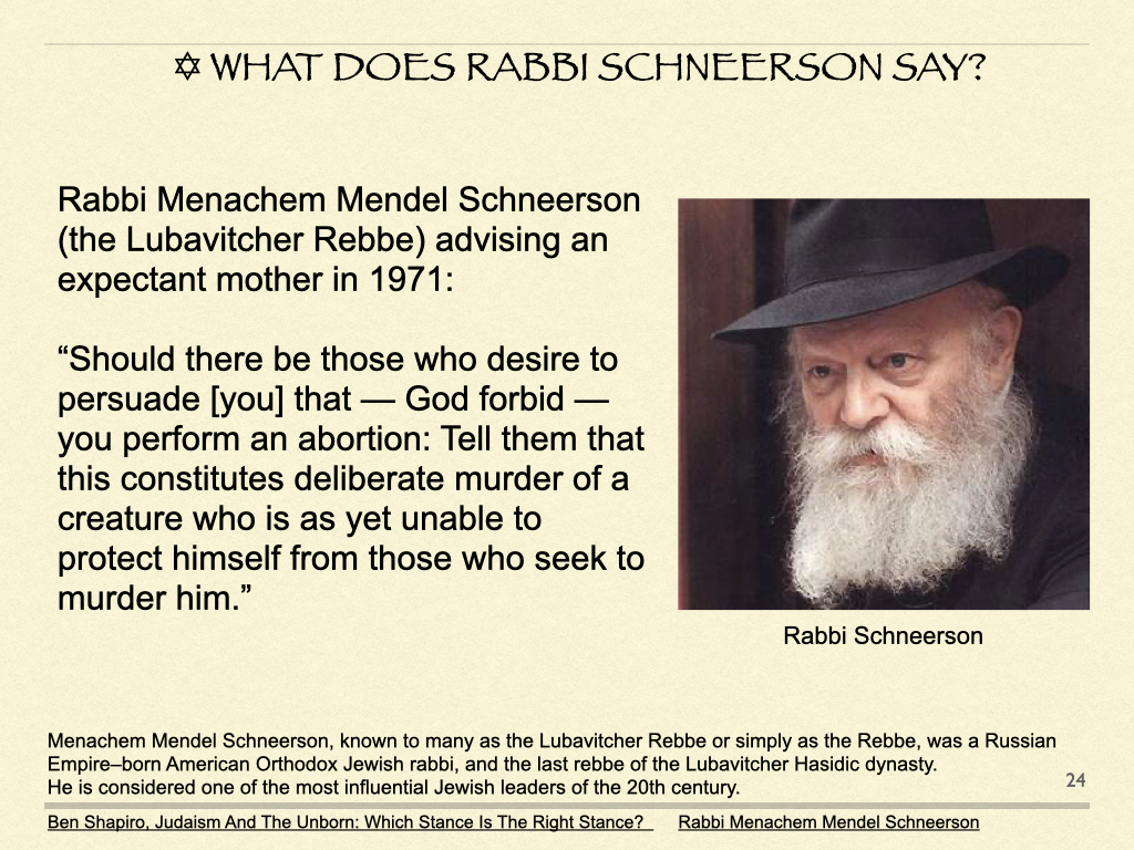 What Does Rabbi Schneerson Say?