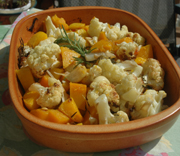 Roasted Cauliflower and Butternut Squash