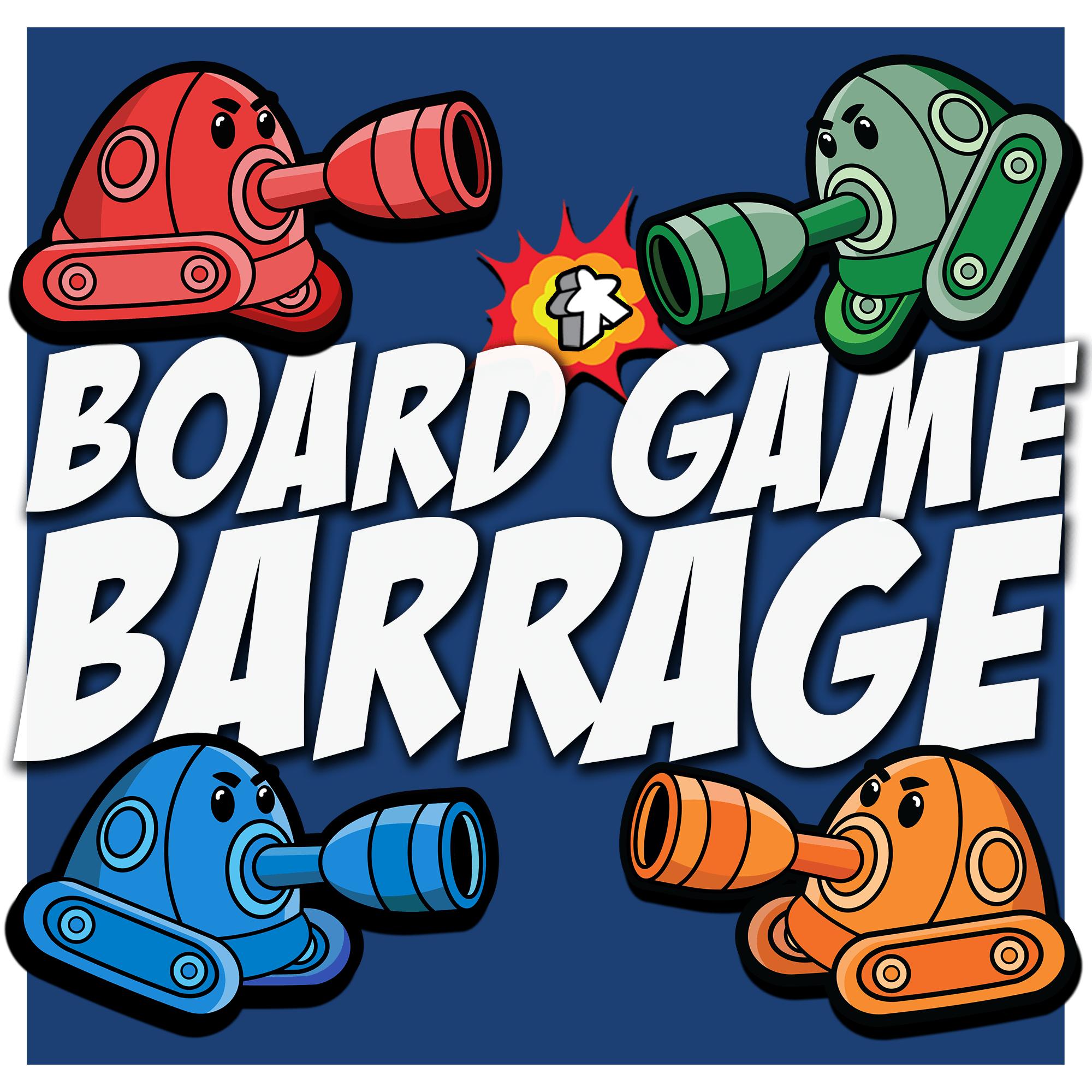 Board Game Barrage show art