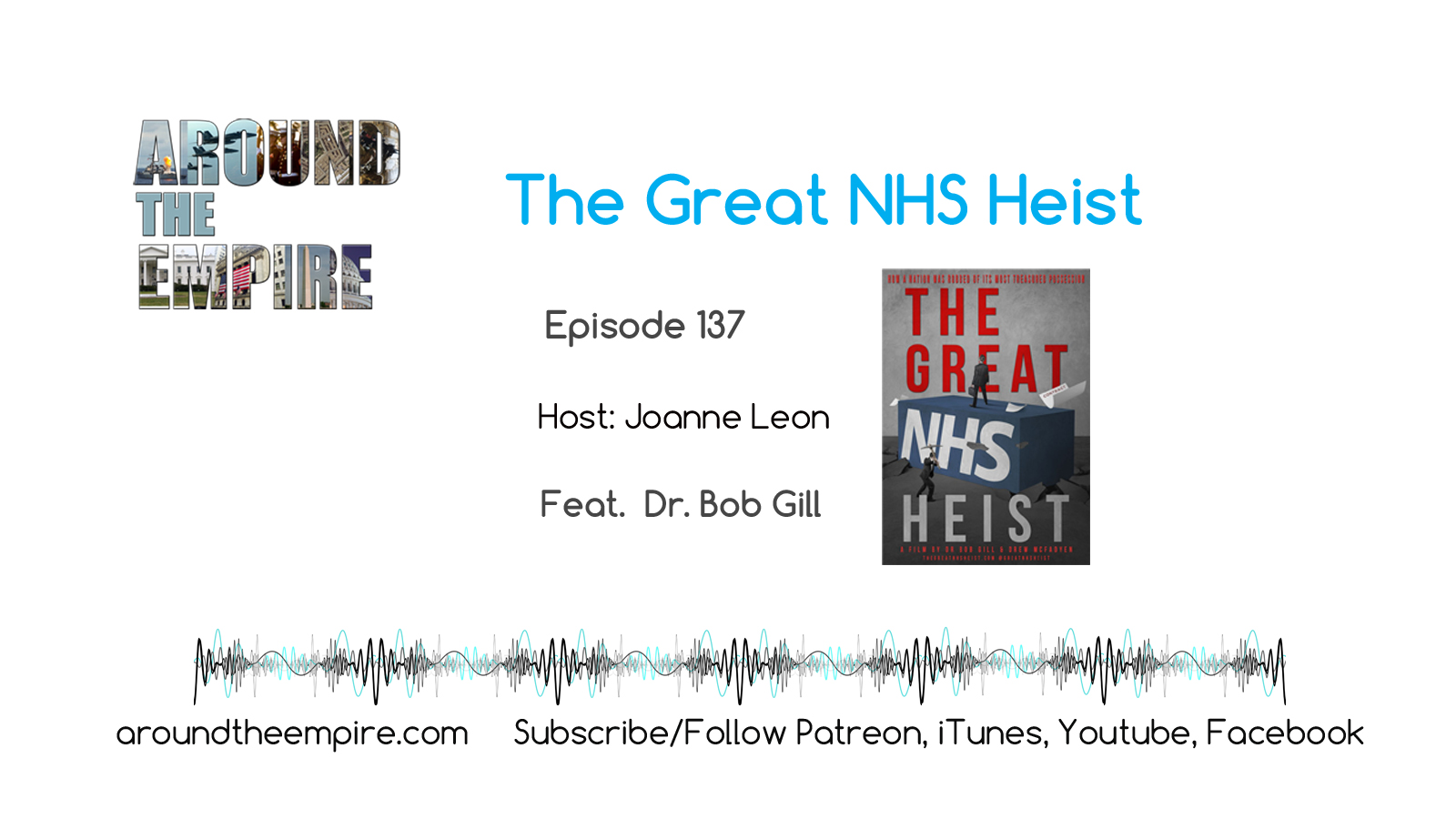 Ep 137 The Great NHS Heist feat Dr Bob Gill