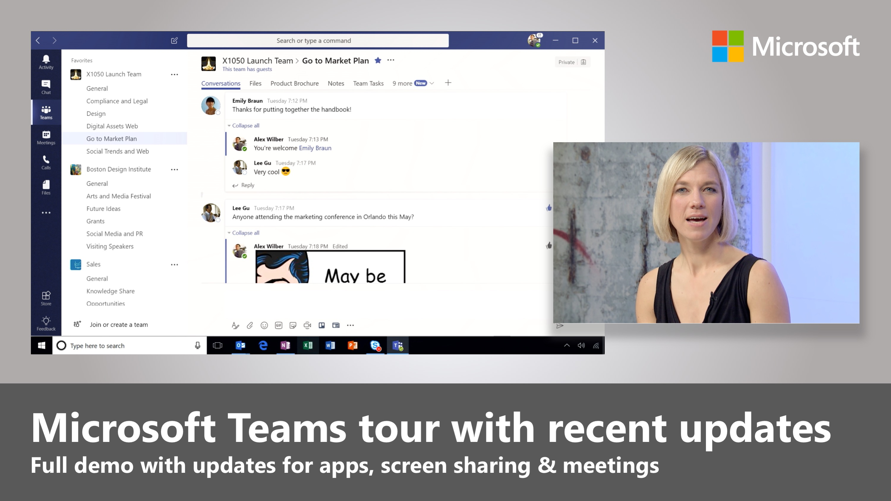 Artwork for Microsoft Teams and recent updates to add Skype for Business capabilities