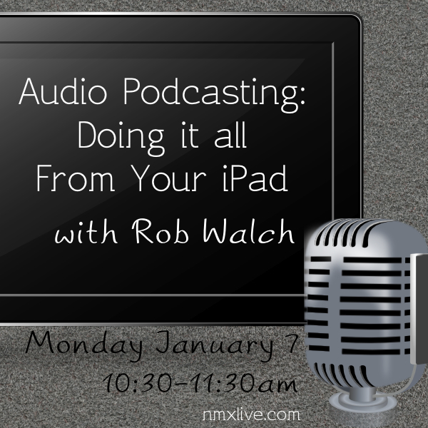 Rob Walch gives his amazing session all about podcasting with your iPad