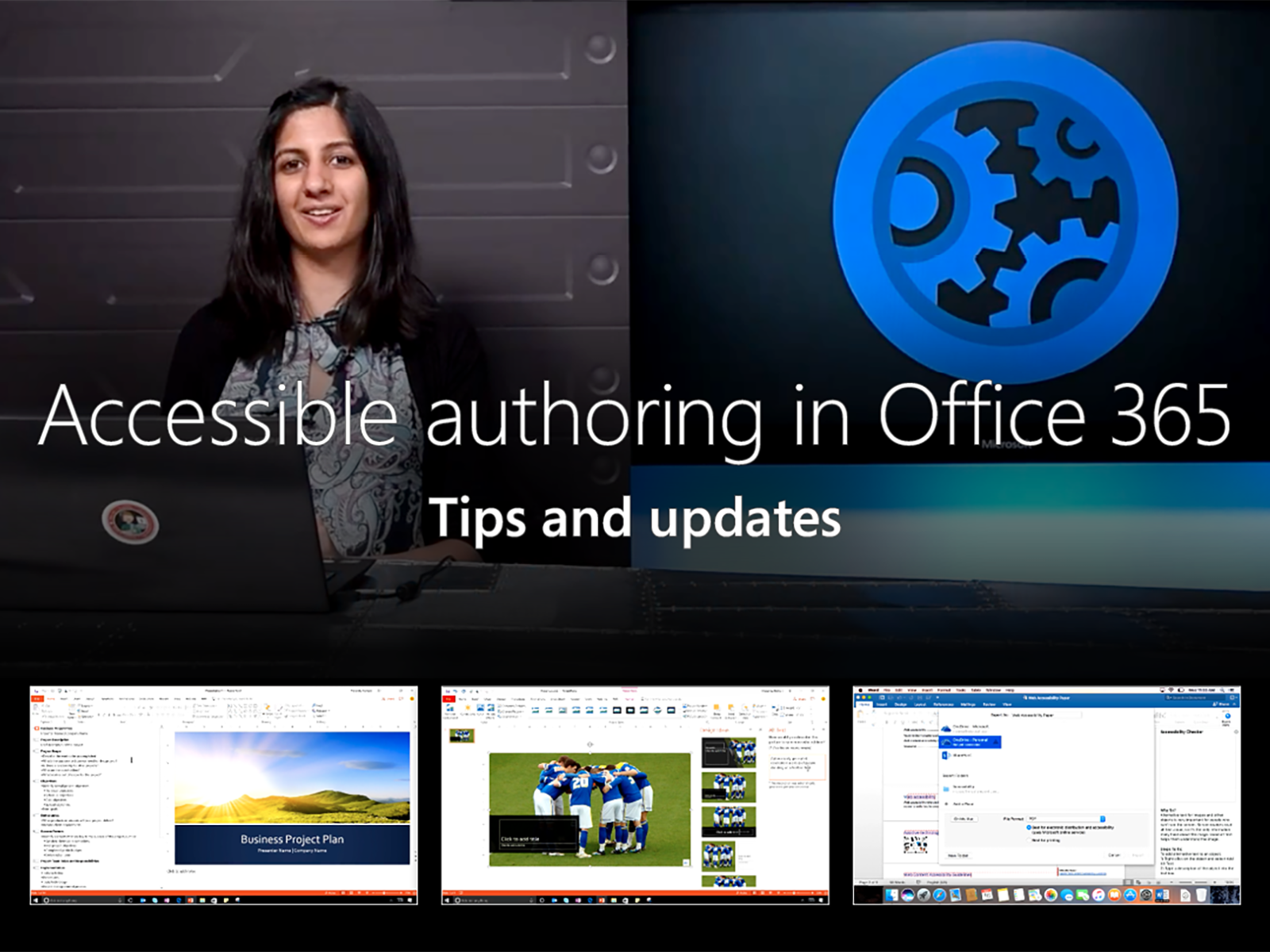 Artwork for Accessible authoring tips and updates in Office 365