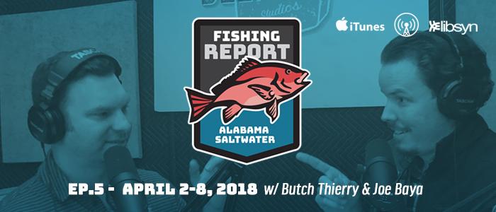 Alabama Saltwater Fishing Report | April 2-8, 2018 | Ep5 | South Alabama Fishing | Trotter Marine | Egret Baits