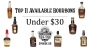 Artwork for Top 11 Available Bourbons Under $30