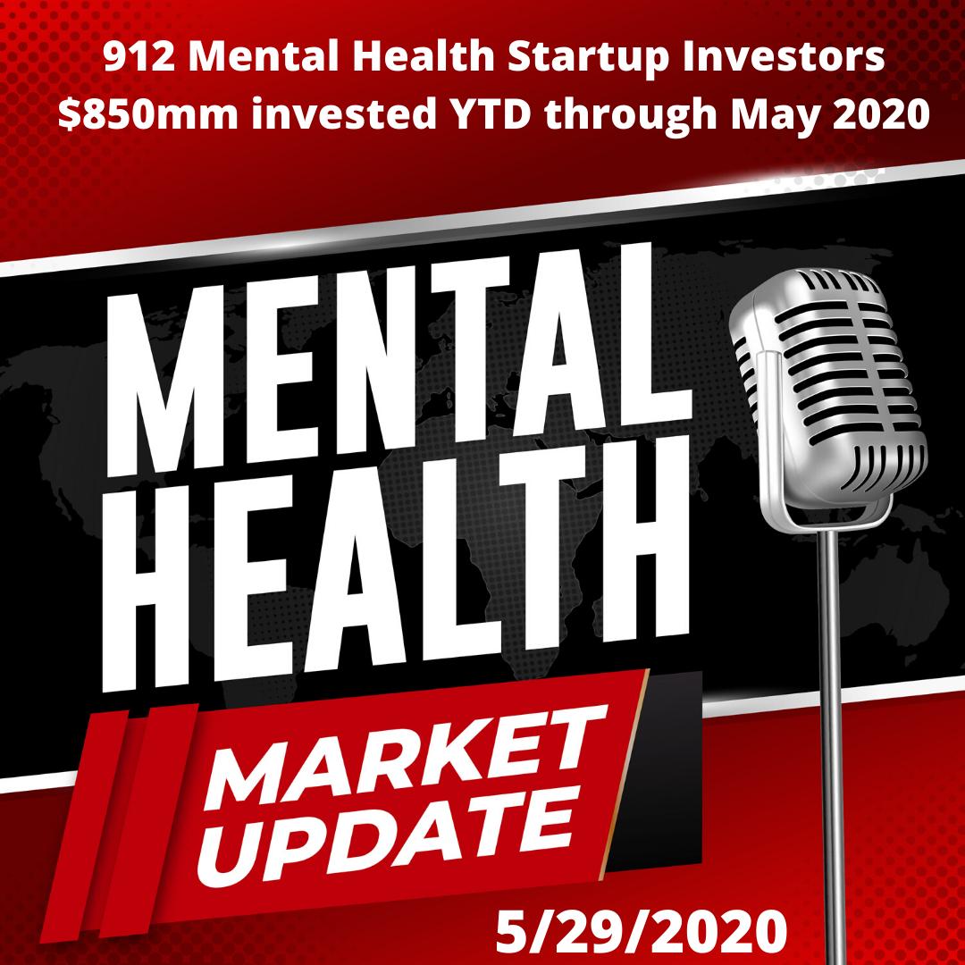 Stigma Podcast - Mental Health - #48 - Market Update 5/29/20: Who are the Investors Putting $850mm into Mental Health Startups So Far in 2020?
