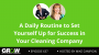 Artwork for A Daily Routine to Set Yourself Up for Success in Your Cleaning Company: Episode 637