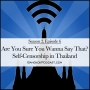 Artwork for Are You Sure You Wanna Say That? Self-Censorship in Thailand (2.6)