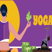 Playing w/ my Yoga Play & broccolini (and photoshop)