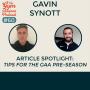 Artwork for #60 Article Spotlight: Tips for the GAA pre-season by Gavin Synott