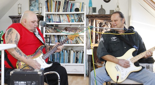 Walter Trout & Popa Chubby in session