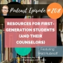 Artwork for 208: Resources for First-Generation Students (and Their Counselors)