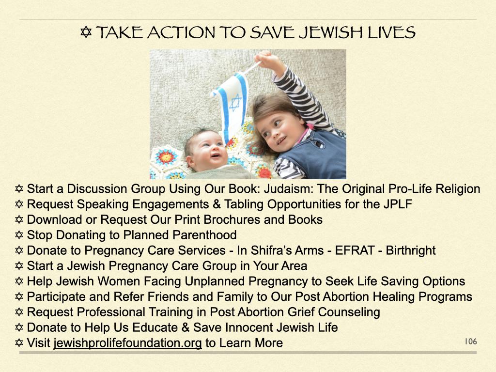 Take Action To Save Jewish Lives