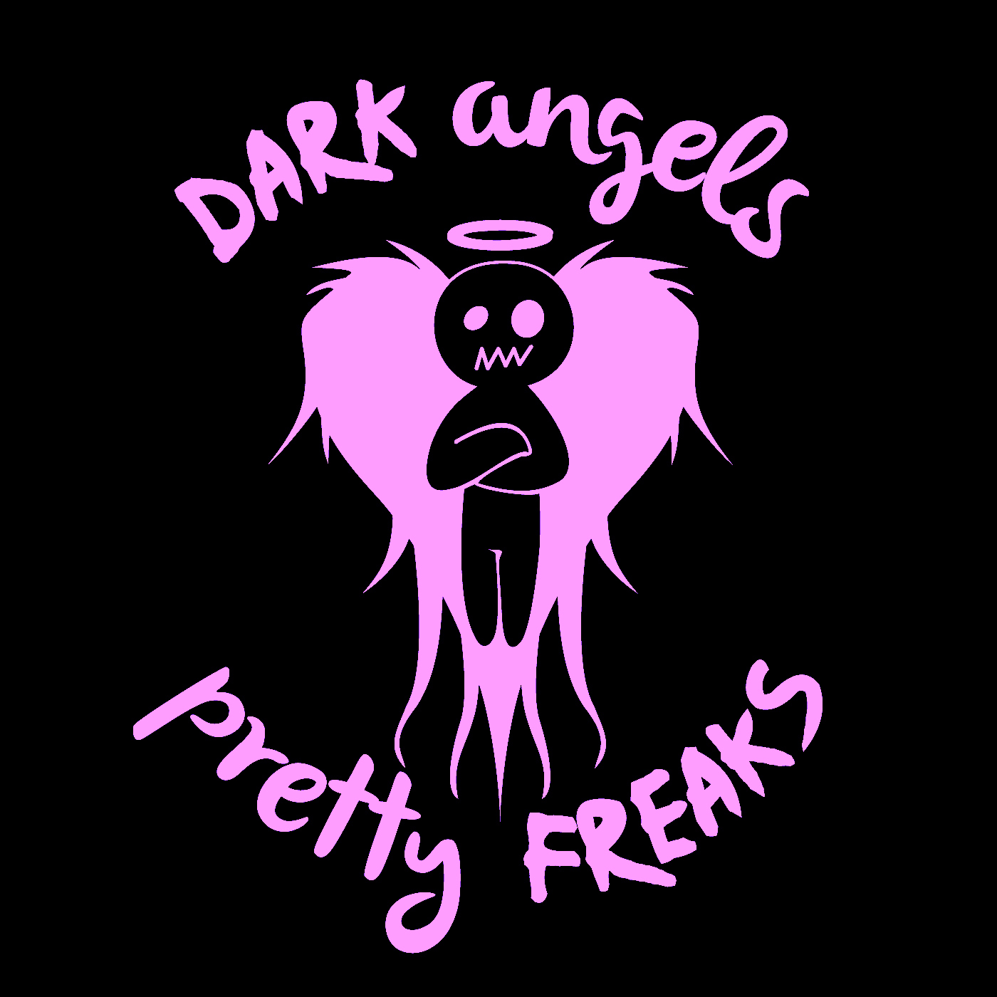 Artwork for DAPF #110. Dark Angels & Pretty Freaks #110. We are a little all over the place this week. Shocking, huh? We talk B-days, Weed pulling, puppy meet ups, Vajizzle, wind, 5 TV shows we would like a guest spot on and so much more!