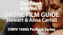 Artwork for 100th Podcast Series - Drone Film Guide - Stewart and Alina Carroll