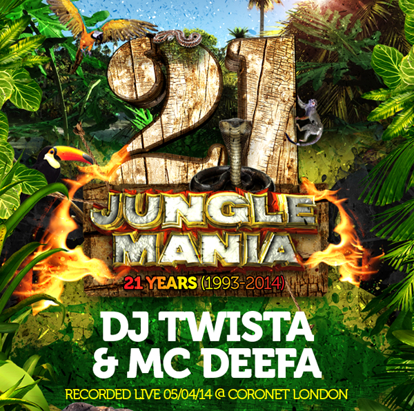 Dj Twista & Mc Deefa @ Jungle Mania 21st Birthday April 2014