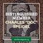 "Artwork for 1979 Distinguished Member Charles ""Doc"" Speidel"