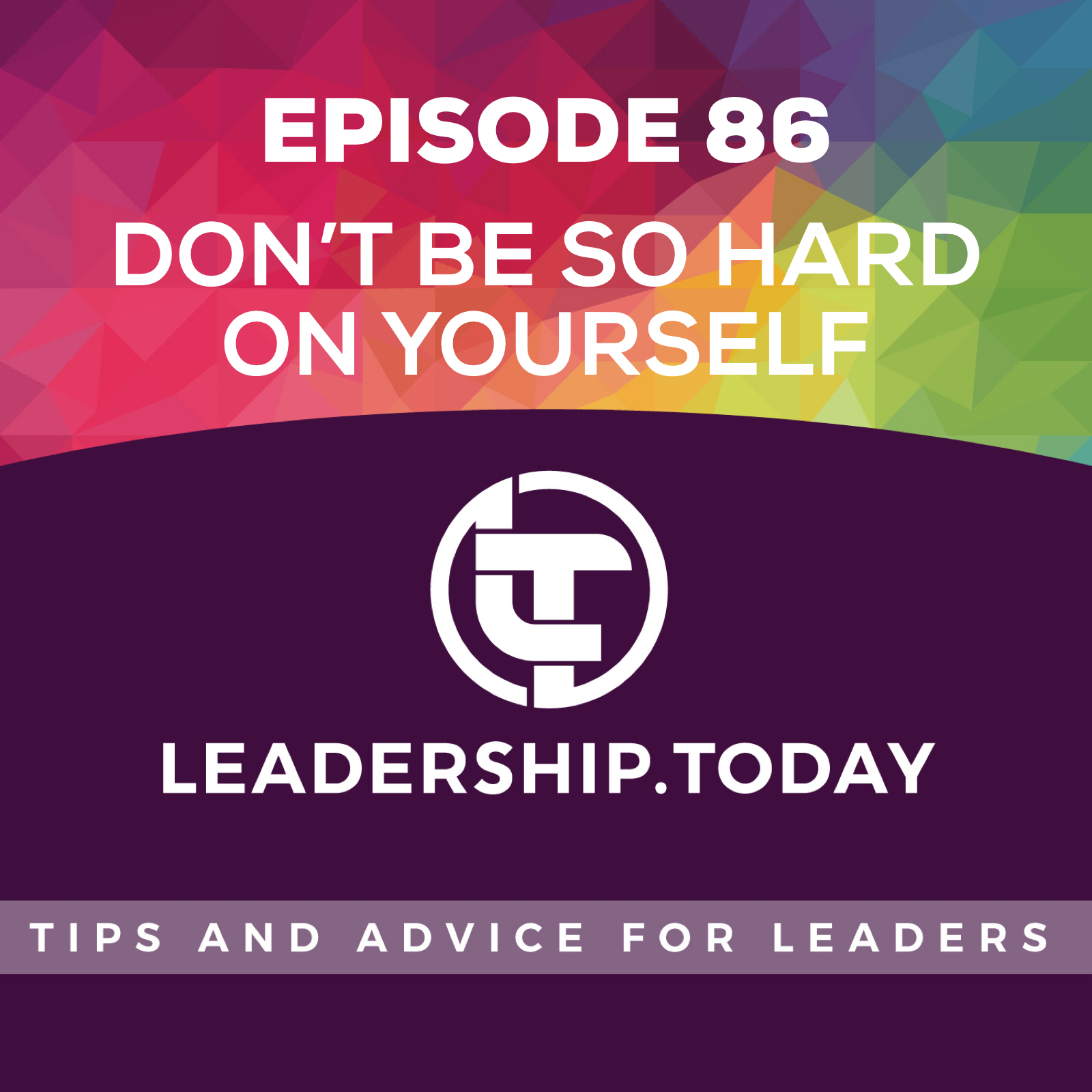 Episode 86 - Don't Be So Hard On Yourself