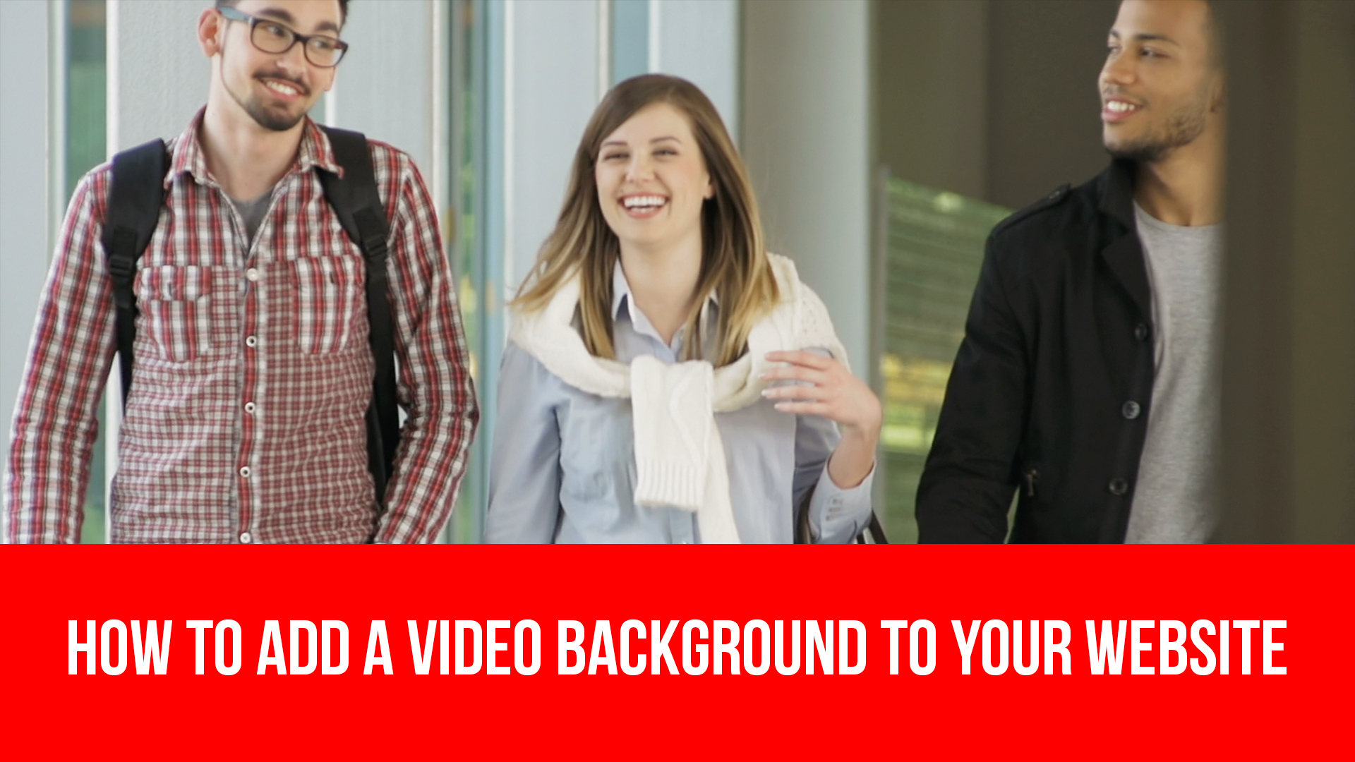 How to add a video background on your website.