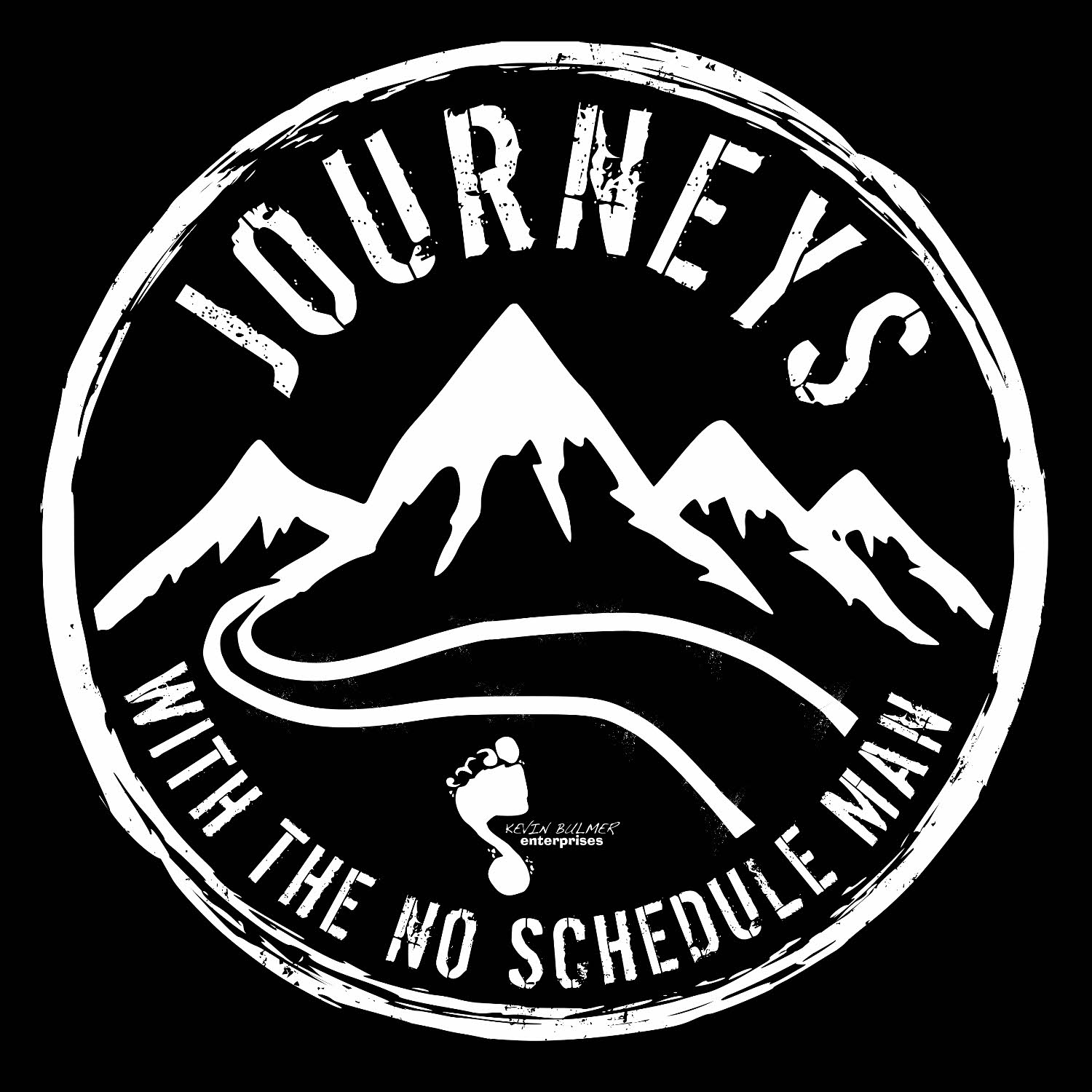 Journeys with the No Schedule Man show art