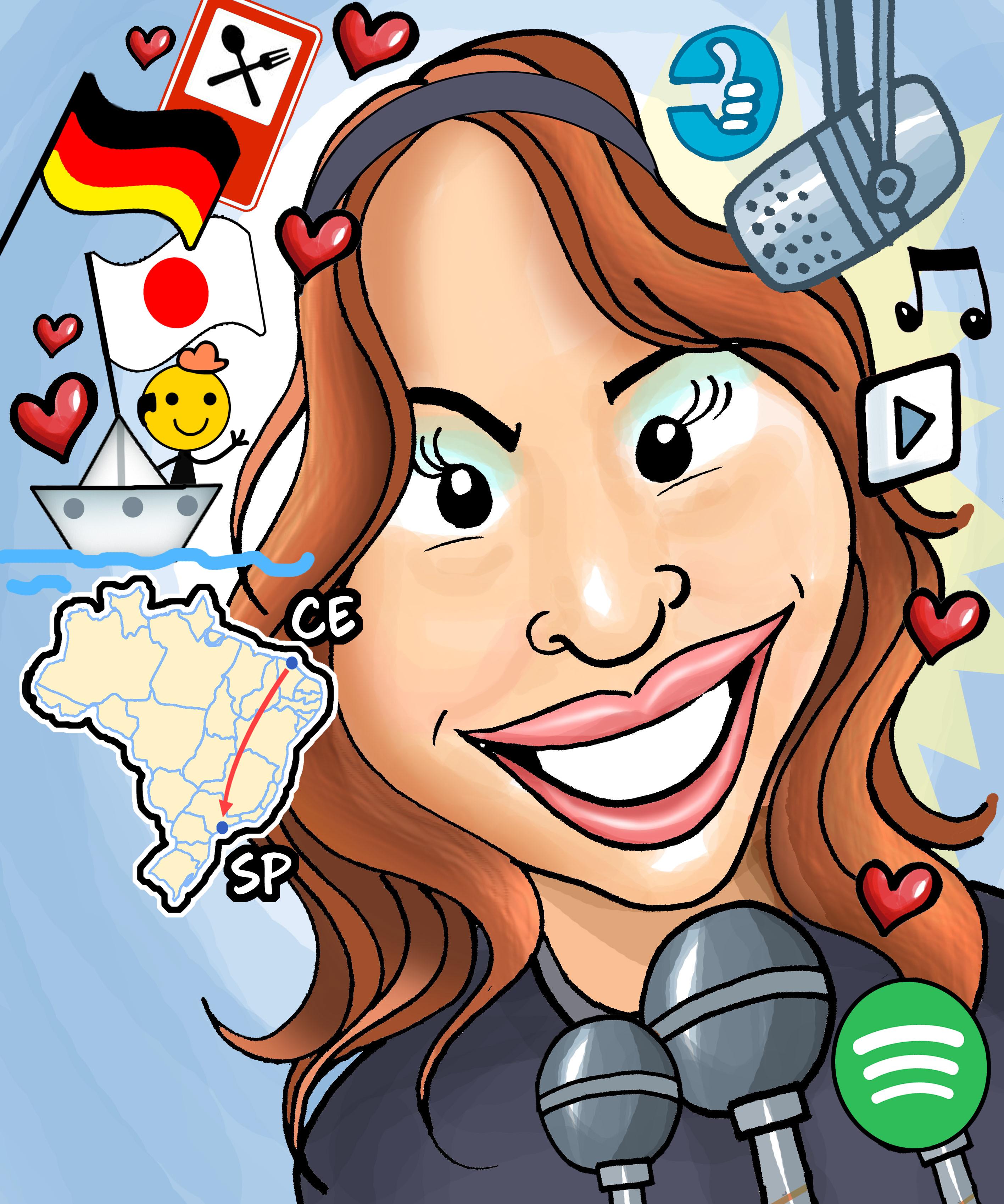 Caricatura da Leila Germano por Guabiras