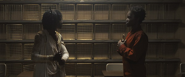 Lupita Nyong'o as Red and Adelaide in Jordan Peele's Us