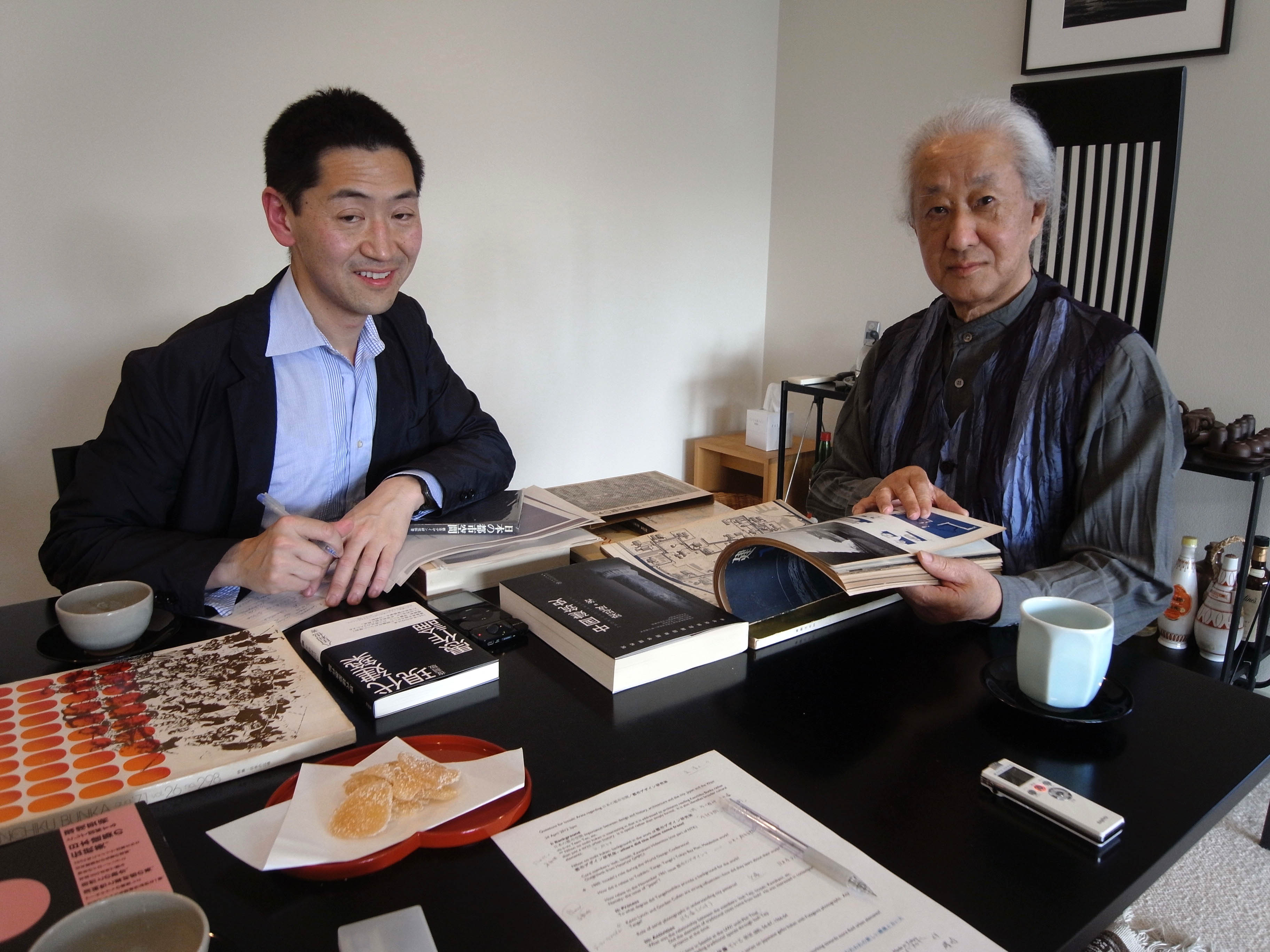 Ken Oshima with Arata Isozaki
